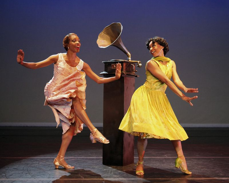 AAADT's Yusha -Marie Sorzano and Linda Celeste Sims in Matthew Rushing's Uptown. Photo by Paul Kolnik
